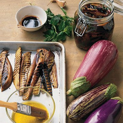 Grilled Eggplant in Pomegranate Dressing