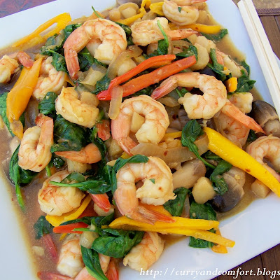Asian Shrimp and Spinach Stir Fry