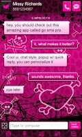 Screenshot of Cute Pink Cheetah Theme Go SMS