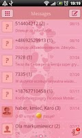 Screenshot of GO SMS Pro Bijou Hearts Theme