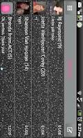 Screenshot of GO SMS - Black Twinkle