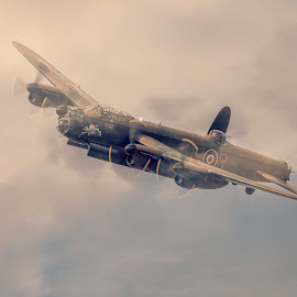 Lancaster Bomber by Chris Paul - Transportation Airplanes ( world war ii, vintage, airplane, aircraft, lancaster bomber, classic )
