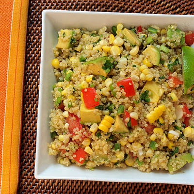 Quinoa with Corn, Tomatoes, Avocado, and Lime