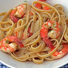 Linguine with Citrus-Roasted Shrimp