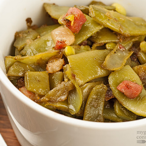 Italian Green Beans with Pancetta and Braised Garlic