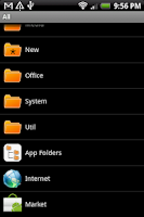 Screenshot of App Folders