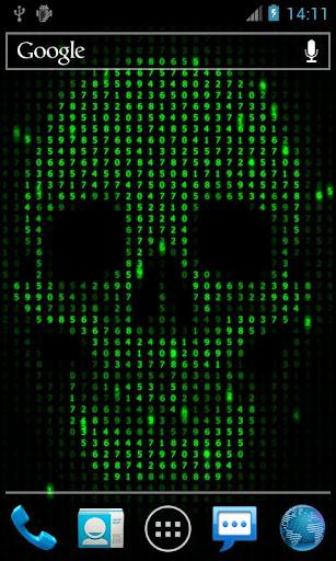 ディジタルスカルライブ壁紙 Digital Skull