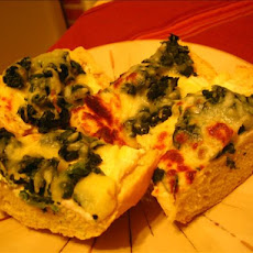 Mozzarella and Spinach Crostini