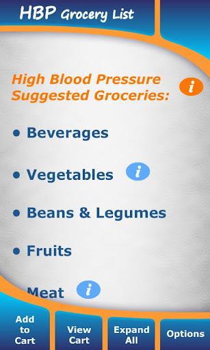 High Blood Pressure Groceries