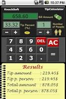 Screenshot of Tip Calculator Free
