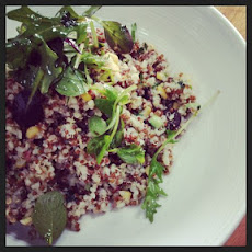 Quinoa Salad with Sweet Chili and Tahini Dressing