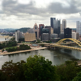 Steel City by Jared Lantzman - Landscapes Travel ( three rivers, skyline, pittsburgh, bridge, landscape, steel city, river, city,  )