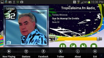 Screenshot of Tropicalisima.fm Radio