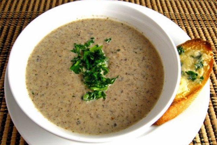 Wild Mushroom Soup with Sherry