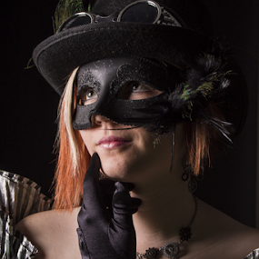 Masked by Stephanie Simmons - People Portraits of Women ( studio, masquerade, masks, portraits )