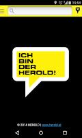 Screenshot of HEROLD mobile