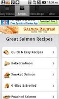 Screenshot of Salmon Recipes!
