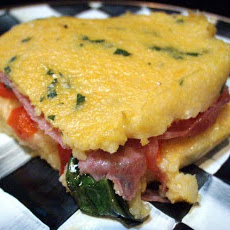 Baked Stuffed Polenta (Reduced and Lightened)
