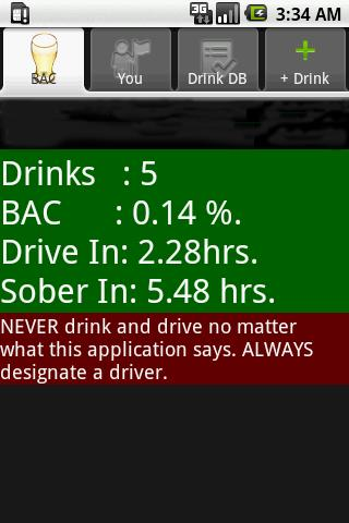 Blood Alcohol Content Calc
