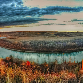 Bender by Levent Cetin - Landscapes Prairies, Meadows & Fields ( nature, riverside, sunset, landscape, prairie, river )