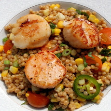 Seared Scallops with Israeli Couscous