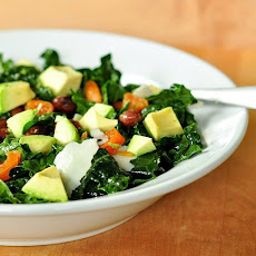Kale Salad with Apricots, Avocado, and Parmesan