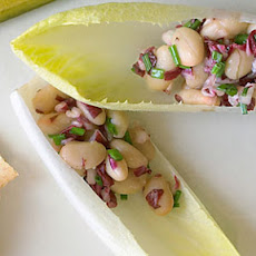 Endive Spears with White Bean Radicchio Salad