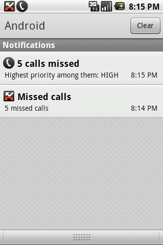 Missed Call Priority