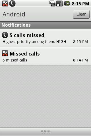 Missed Call Priority