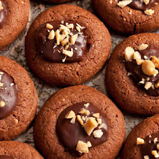Peanut Butter and Chocolate Cookies with Ganache Filling Recipe