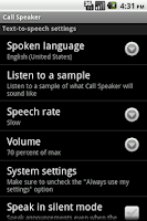 Screenshot of Call Speaker