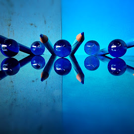 Shoot by Janette Ho - Artistic Objects Still Life ( pencil, blue, object,  )
