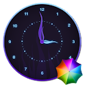 Stylish Glowing Clock Widget icon