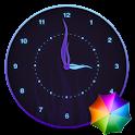 Stylish Glowing Clock Widget