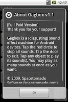 Screenshot of Gagbox Sound Effects Machine