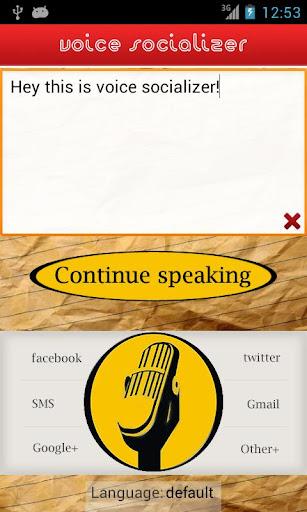 Voice Socializer