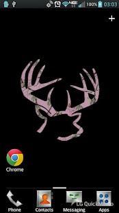 Buck Rack Pink Live Wallpaper - screenshot