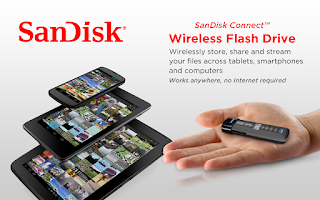 Screenshot of SanDisk Wireless Flash Drive