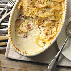 Celeriac, Potato & Rosemary Gratin