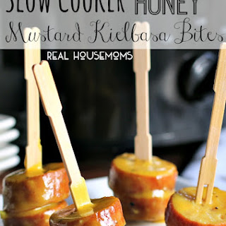 Slow Cooker Honey Mustard Kielbasa Bites