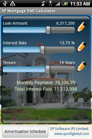 SP Mortgage EMI Calculator