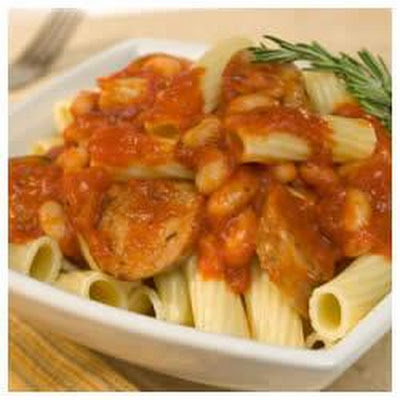 Rigatoni with Sausage and Beans
