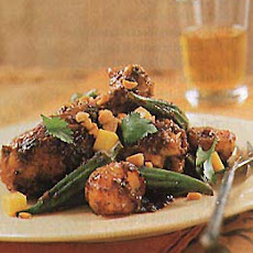 Curried Chicken Legs with Okra and Potatoes