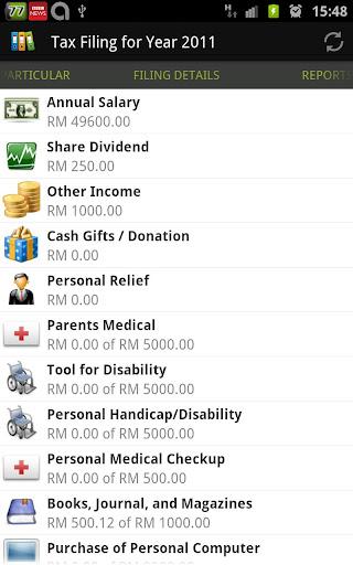 My Tax - Malaysia Tax Calc