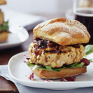 Chicken Burgers with Barbecue Onion Sauce