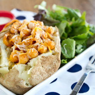Buffalo Chickpea Loaded Potato