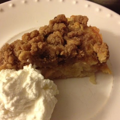 Streuseled French Apple Cake