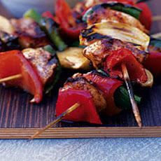 BBQ Mexican chicken skewers with guacamole