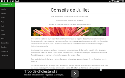 Calendrier du jardin apk for blackberry download android for Calendrier jardin