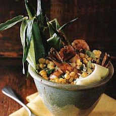 Shrimp and Corn with Basil